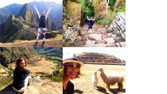Actress Teri Hatcher of Desperate Housewives made the Inca Trail to Machu Picchu